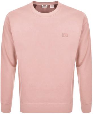 Levi's Levis Crew Neck Sweatshirt Pink