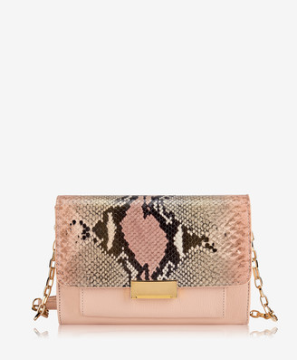 GiGi New York Kate Crossbody, Rose Wash Embossed Python