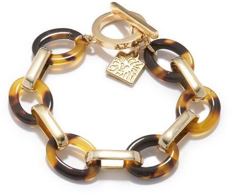 Anne Klein Tortoise Link Bracelet
