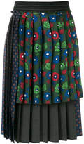 Hache layered pleated skirt