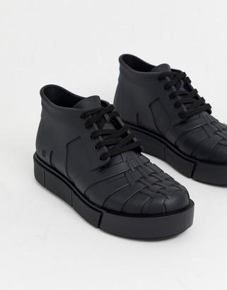 Melissa hi top chunky sneaker in black