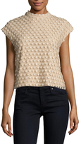 Tracy Reese Textured Mockneck Shell