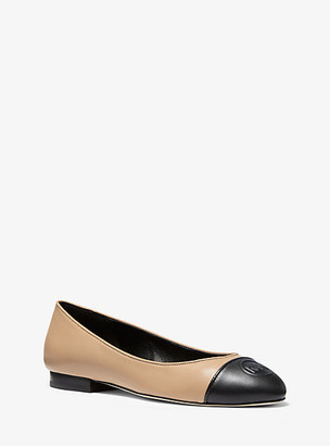 Michael Kors Dylyn Logo Leather Ballet Flat