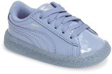 Puma Infant Girl's Basket Iced Glitter Sneaker