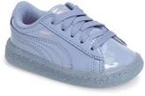 Puma Toddler Girl's Basket Iced Glitter Sneaker