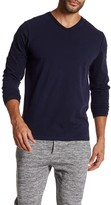Threads 4 Thought V-Neck Long Sleeve Pick Stitch Tee