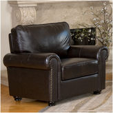Asstd National Brand Olivia Leather Roll-Arm Chair