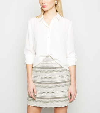 New Look Woven Stripe Mini Skirt
