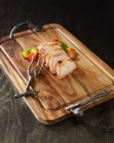 Michael Aram Fig Leaf Carving Board and Meat Fork