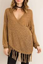 Entro Melange Wrap Sweater