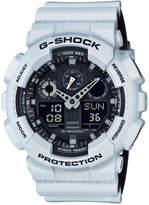 G-Shock Men's Analog-Digital White Resin Strap Watch 51x55mm GA100L-7A
