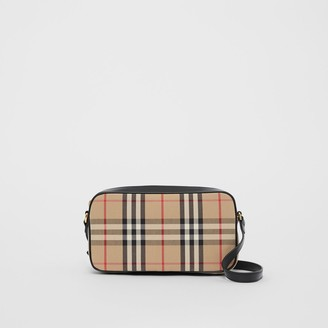 Burberry Small Vintage Check and Leather Camera Bag