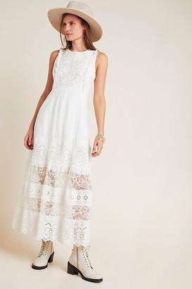 Anthropologie Liliana Eyelet Maxi Dress
