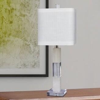 "Latitude Run Rawlinson 26"" Stacked Block Table Lamp Latitude Run"
