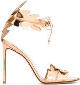 Francesco Russo leaves motif sandals - women - Bos Taurus/Leather - 36.5