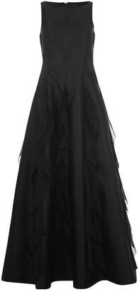 Adrianna Papell Mikado Chiffon Dress