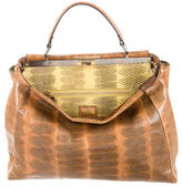Fendi Snakeskin Large Peekaboo Bag