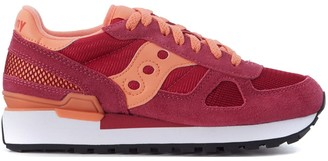 Saucony Sneaker Shadow In Fuchsia And Pink Suede And Fabric Mesh
