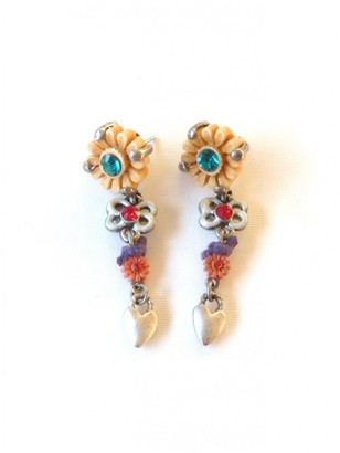 Les Nereides Orange Metal Earrings