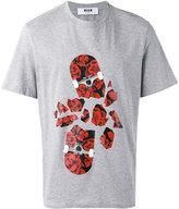 MSGM floral printed T-shirt - men - Cotton - XS