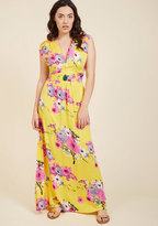ModCloth Feeling Serene Maxi Dress in Lemonade in S