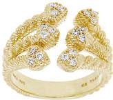 Judith Ripka Sterling & 14K Gold Clad DiamoniquHearts Ring