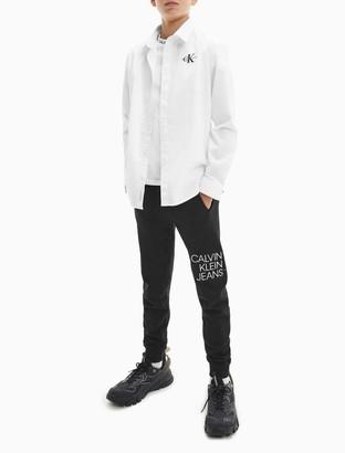 Calvin Klein Boys Monogram Logo Ripstop Shirt