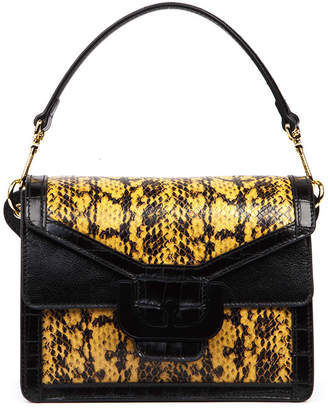 Coccinelle Ambrine Multimat Black Python Print Bag