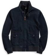 Ralph Lauren Indigo Jersey Bomber Jacket