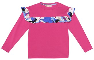 Emilio Pucci Kids Stretch-cotton top