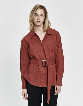 Farrow Jemma Woven Jacket in Cinnamon