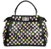 Fendi Peekaboo Mini Beaded Leather Satchel