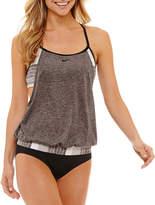 Nike Stripe Blouson Swimsuit Top