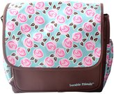 Luvable Friends Printed Diaper Bag, Brown