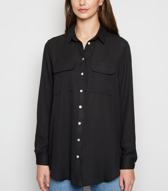 New Look Utility Pocket Long Sleeve Shirt