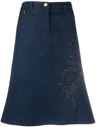 Gianfranco Ferré Pre-Owned 1990s Nautical Embroidered Skirt