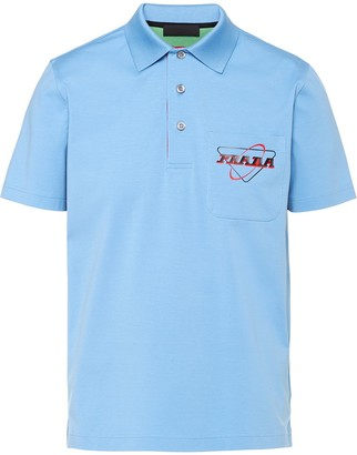 Prada Logo-Print Polo Shirt