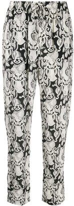 See by Chloe Abstract Print Tapered Trousers