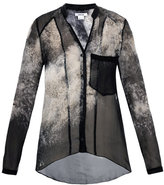 Helmut Lang Oxide-print chiffon shirt