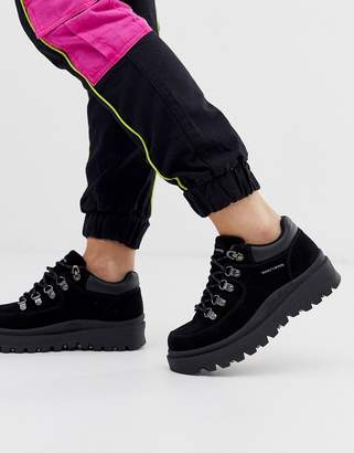 Skechers 5eye hiker boot in black nubuck leather