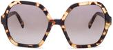 Prada Square Cat Eye Sunglasses