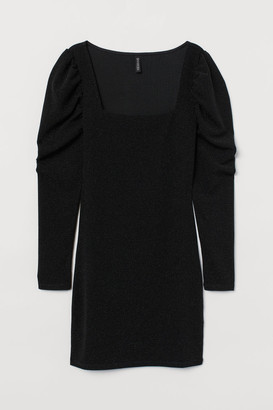 H&M Puff-sleeved jersey dress