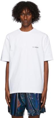 we11done White Metallic Logo T-Shirt