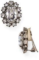 Sorrelli Oval Swarovski Crystal Clip-On Earrings
