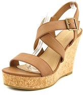 Rampage Happy Open Toe Synthetic Wedge Sandal.