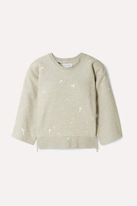 TRE by Natalie Ratabesi - The Tigra Cropped Printed Cotton-blend Jersey Sweatshirt - Gray