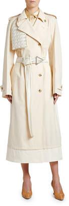 Bottega Veneta Double-Breasted Asymmetric Trench Coat