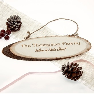 Treat Republic We Believe In Christmas Wooden Sign