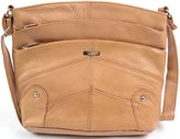 SNUGRUGS Ladies / Womens Leather Shoulder / Cross Body Bag with Multiple Pockets