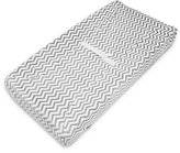 American Baby Company Heavenly Soft Chenille Fitted Contoured Changing Pad Cover, Gray Zigzag by